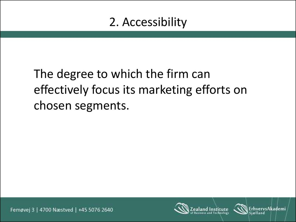 2. Accessibility