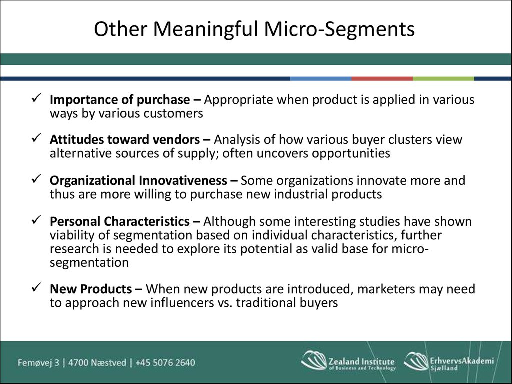 Other Meaningful Micro-Segments