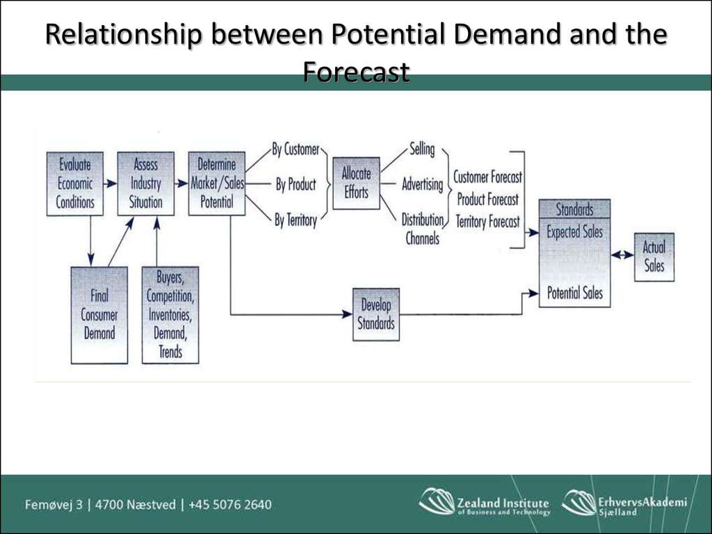 Relationship between Potential Demand and the Forecast