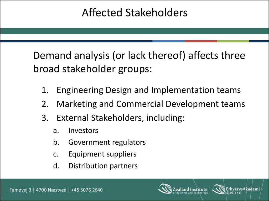 Affected Stakeholders