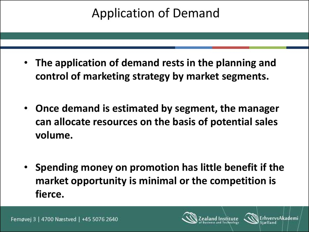Application of Demand