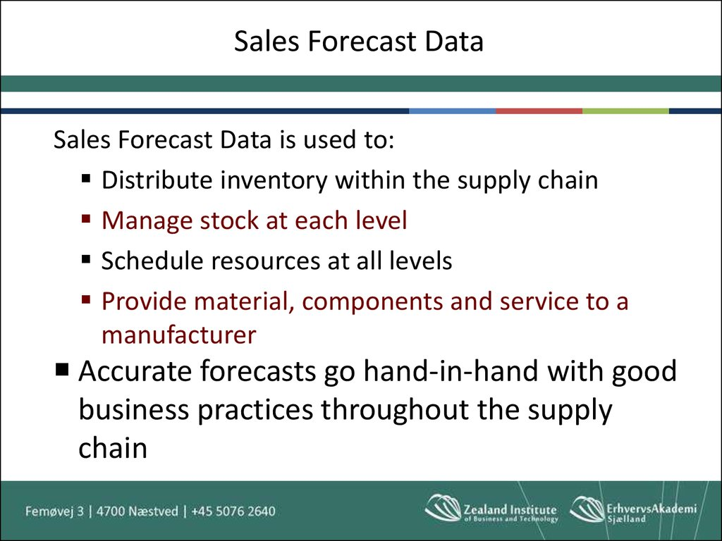 Sales Forecast Data