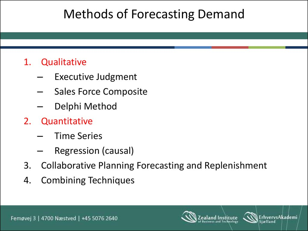 Methods of Forecasting Demand