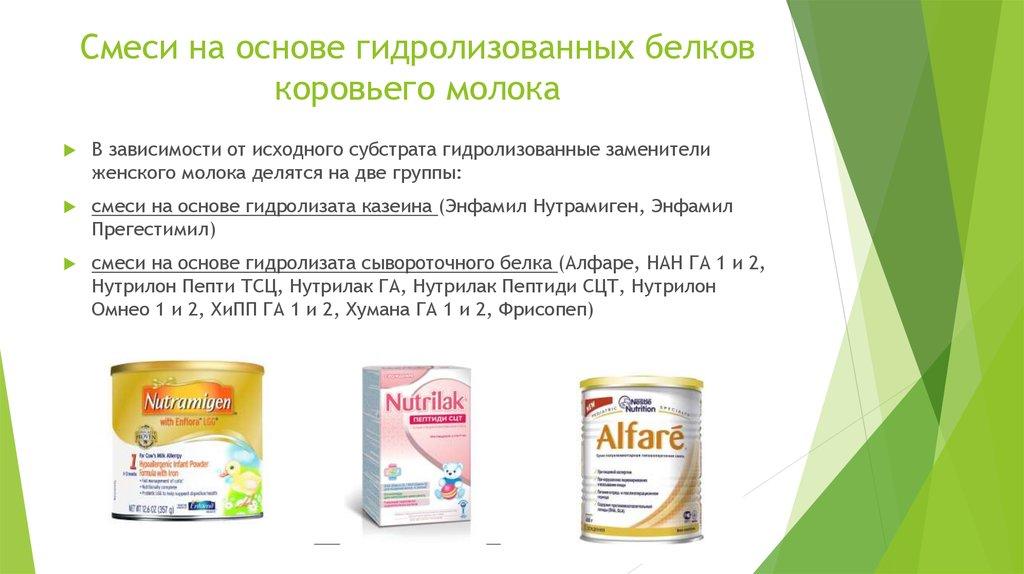 Аллергия на гидролизованную смесь