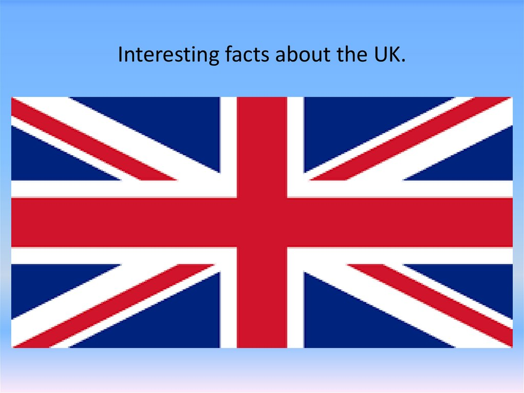 Interesting facts about the UK.
