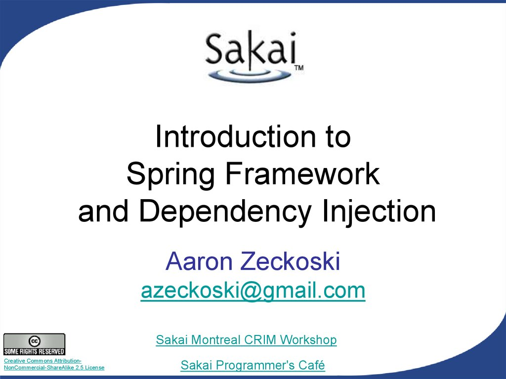 Introduction to Spring Framework and Dependency Injection
