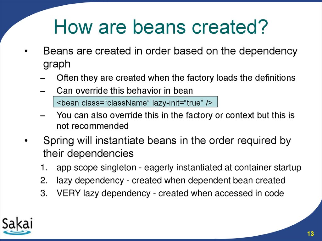 How are beans created?