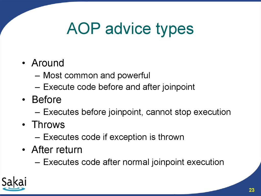 AOP advice types