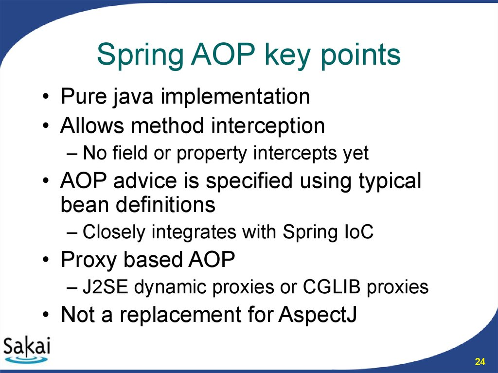 Spring AOP key points