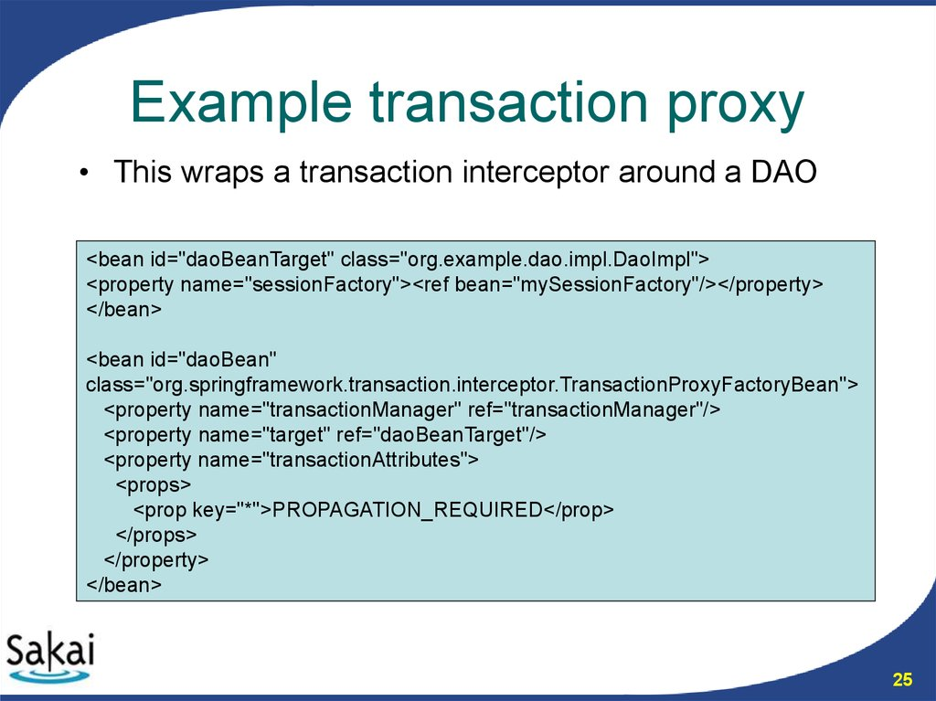 Example transaction proxy