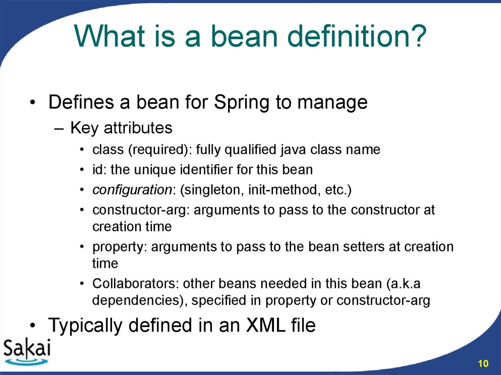 What is a bean definition?