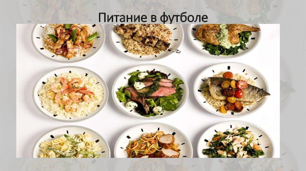 диета для футболиста меню