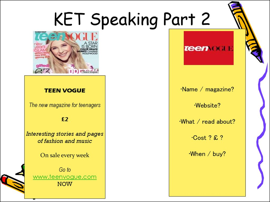 KET Speaking Part 2