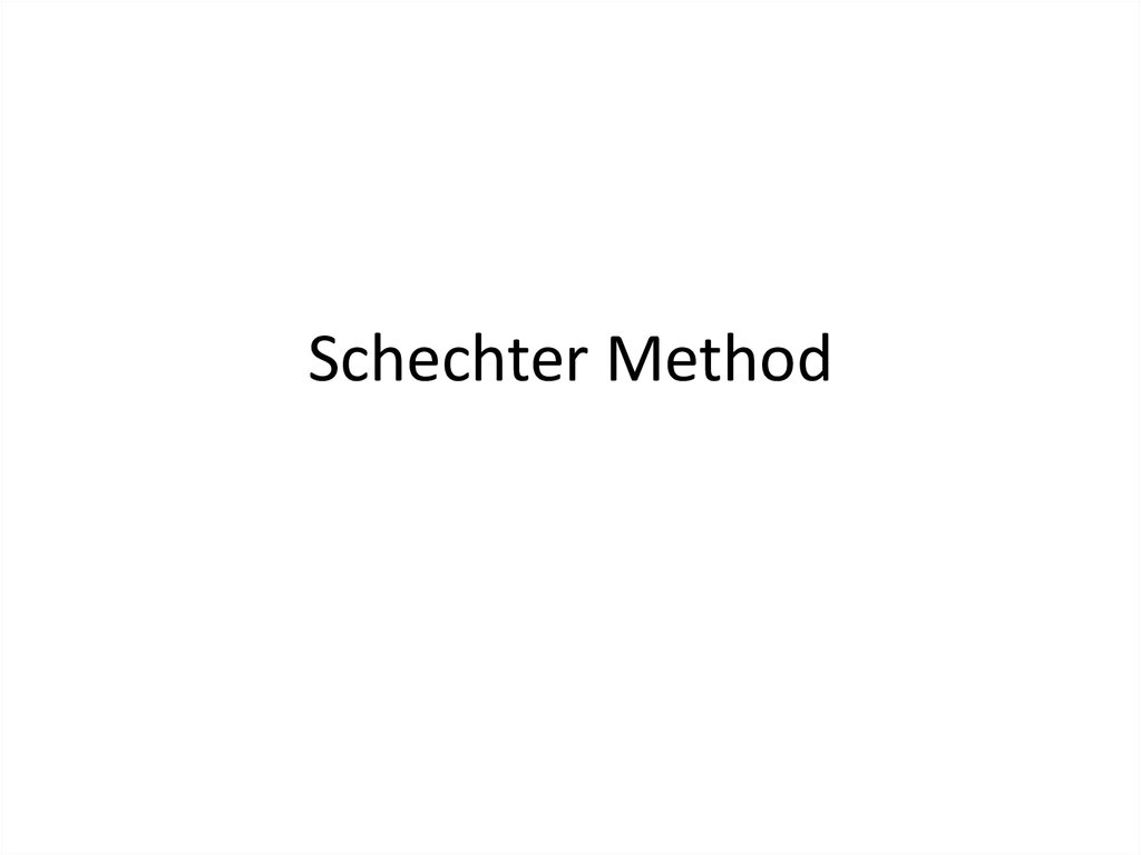 Schechter Method