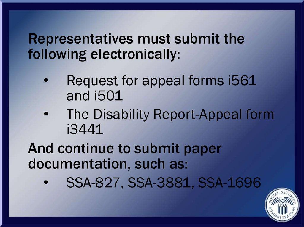 Social security administration USA - online presentation