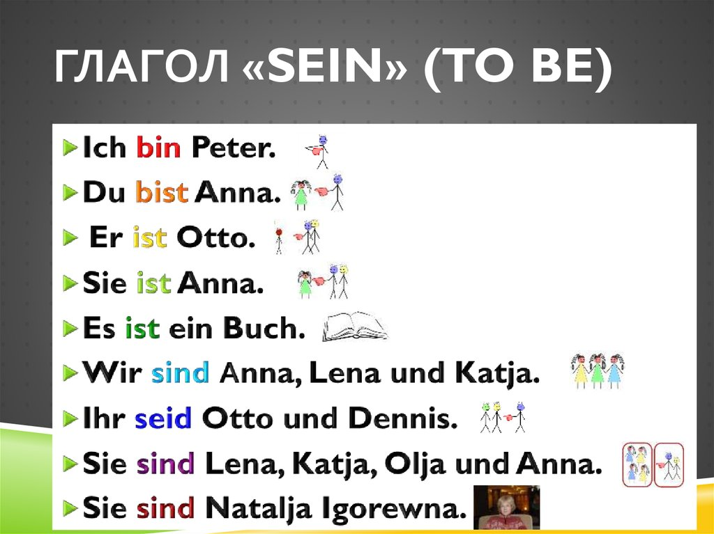 Глагол «sein» (to be)