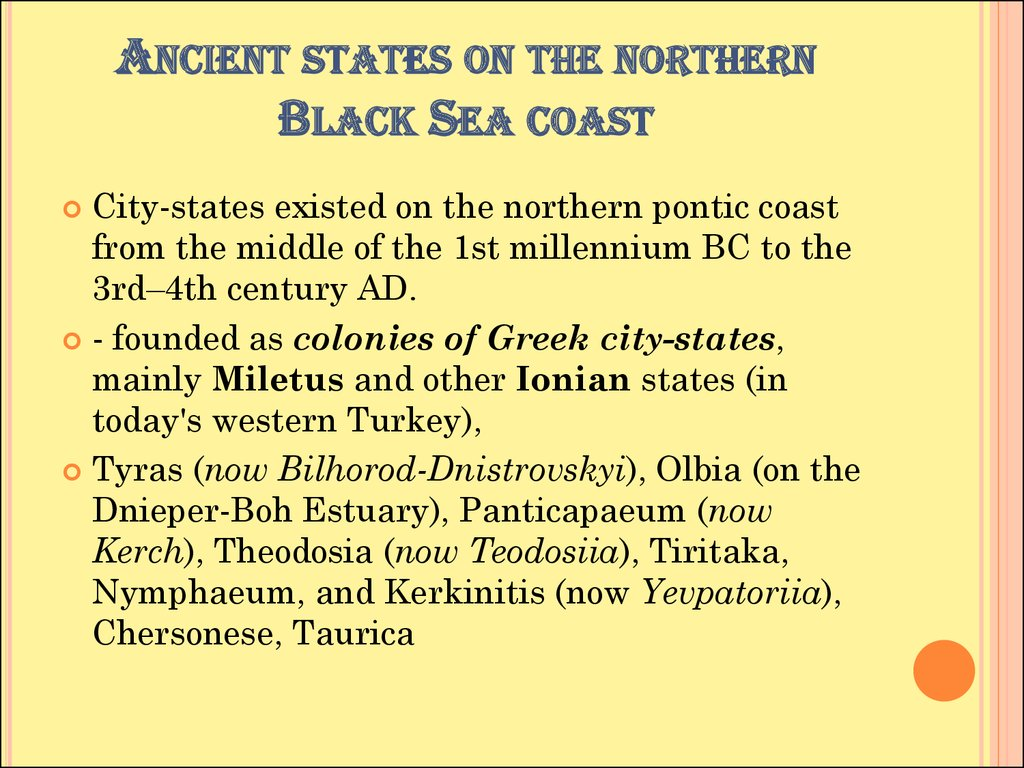 Ancient states on the northern Black Sea coast