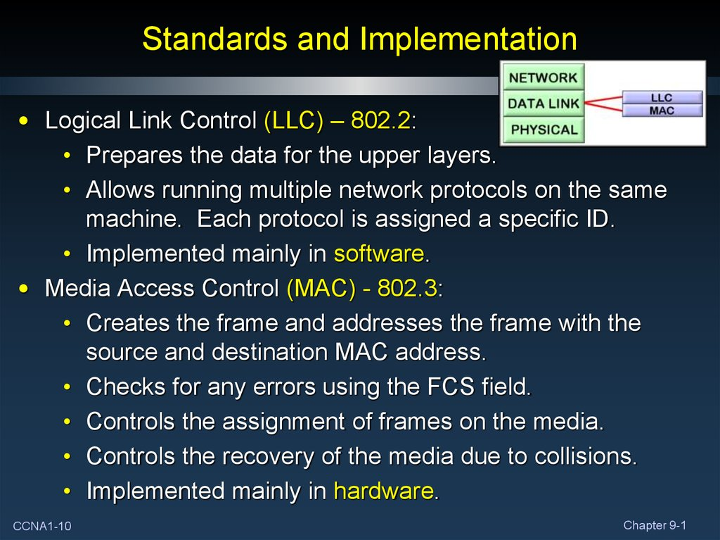 Standards and Implementation