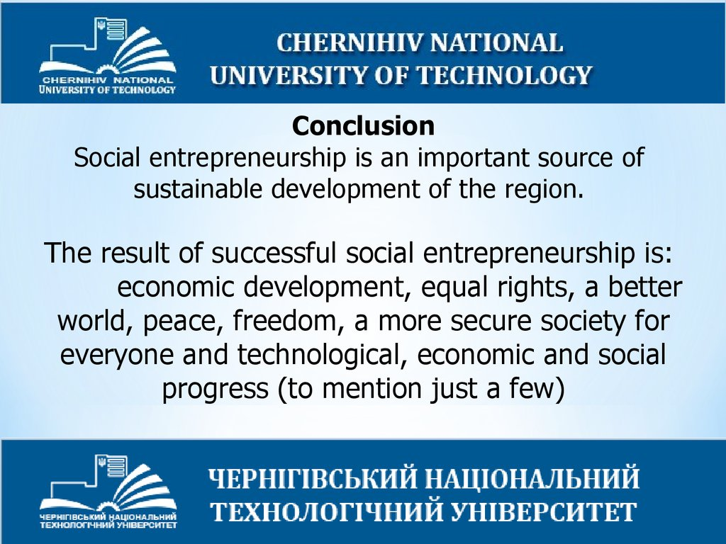 Social Entrepreneurship for Sustainable Development - online