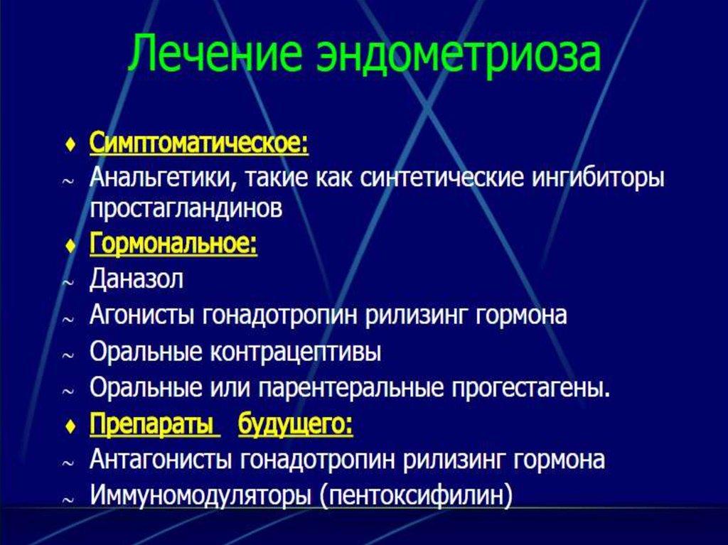 Гормонотерапия эндометриоза - презентация онлайн || Эндометриоз гинекология презентация