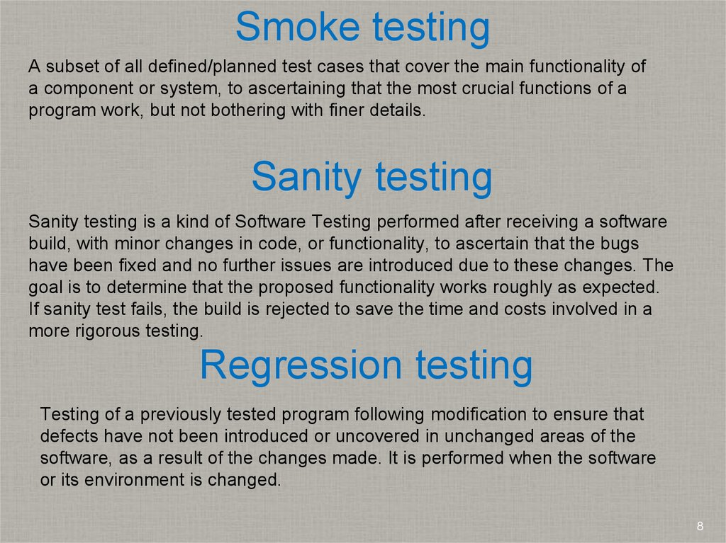 Types of testing  Testing levels  Software Development Life