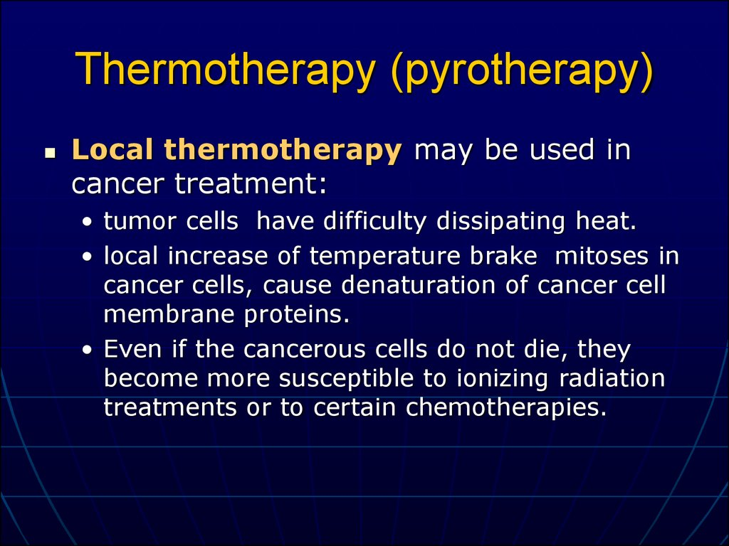 Thermotherapy (pyrotherapy)