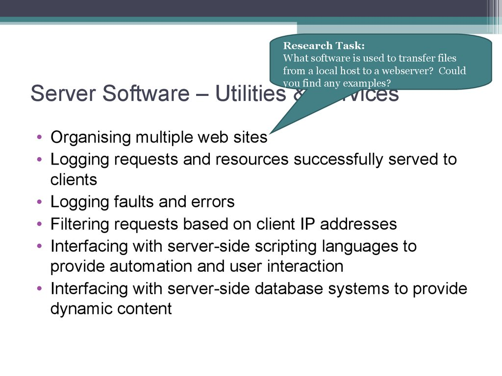Server Software – Utilities & Services