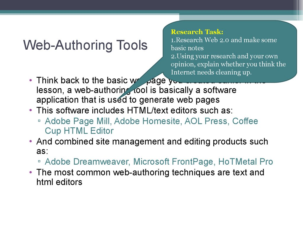 Web-Authoring Tools