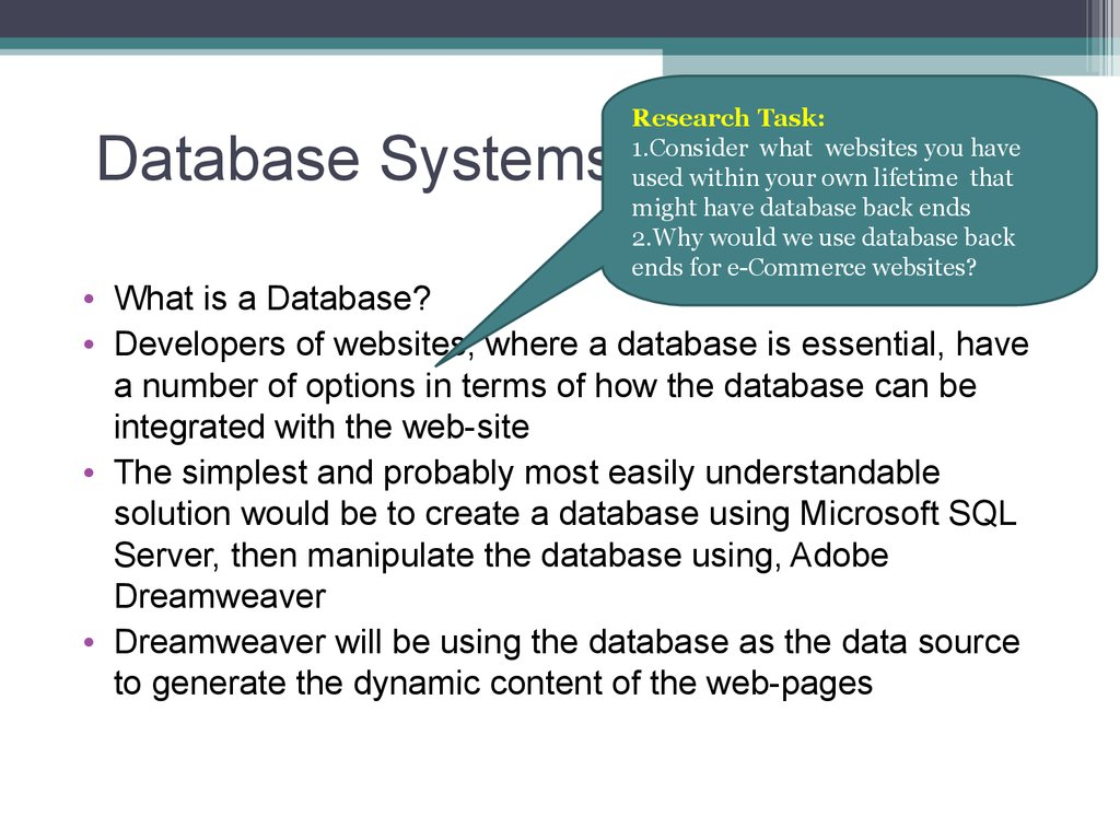 database management system dbms is a set information technology essay Database management system or dbms or short, is a set of computer programs that are responsible for creating differentiate between database management system and information retrieval system by focusing on database management systems a database management system (dbms) is.
