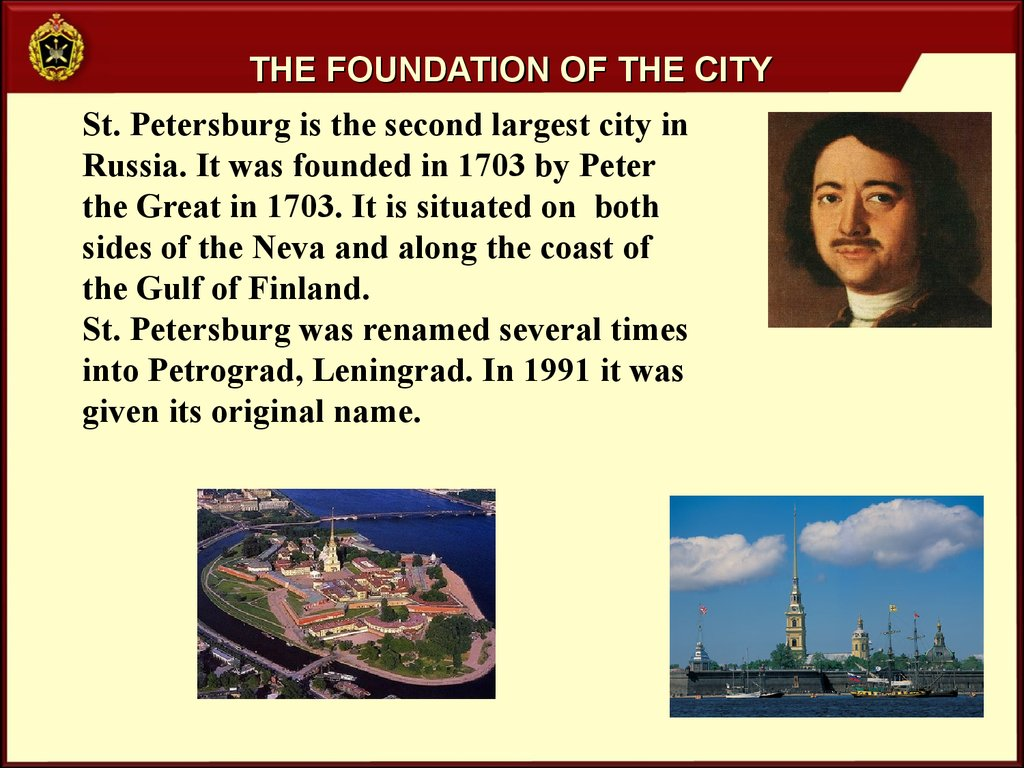 The foundation of the city