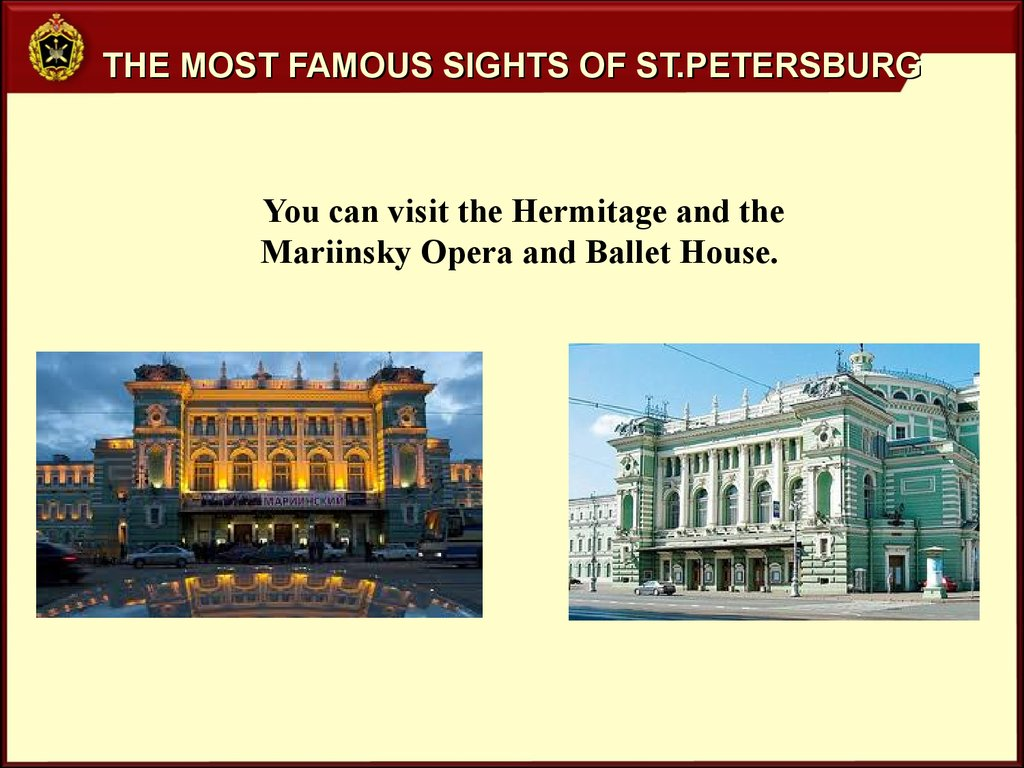 The most famous sights of St.Petersburg