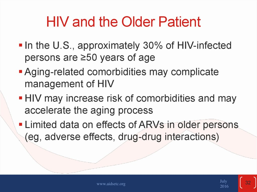 HIV and the Older Patient