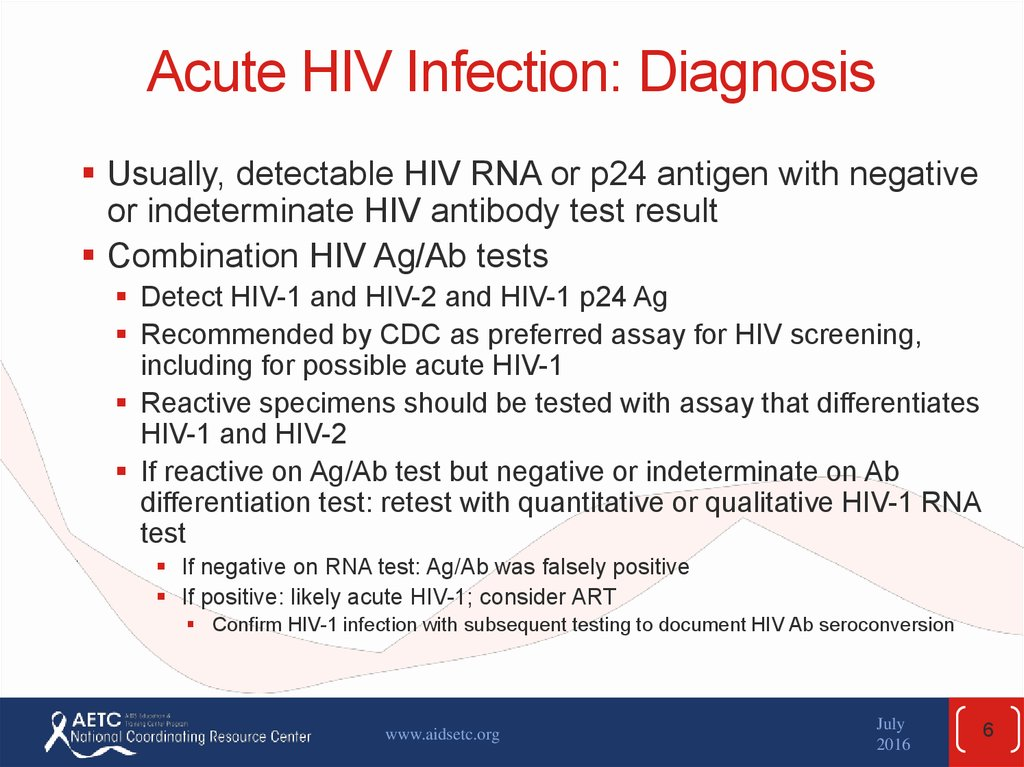 Acute HIV Infection: Diagnosis