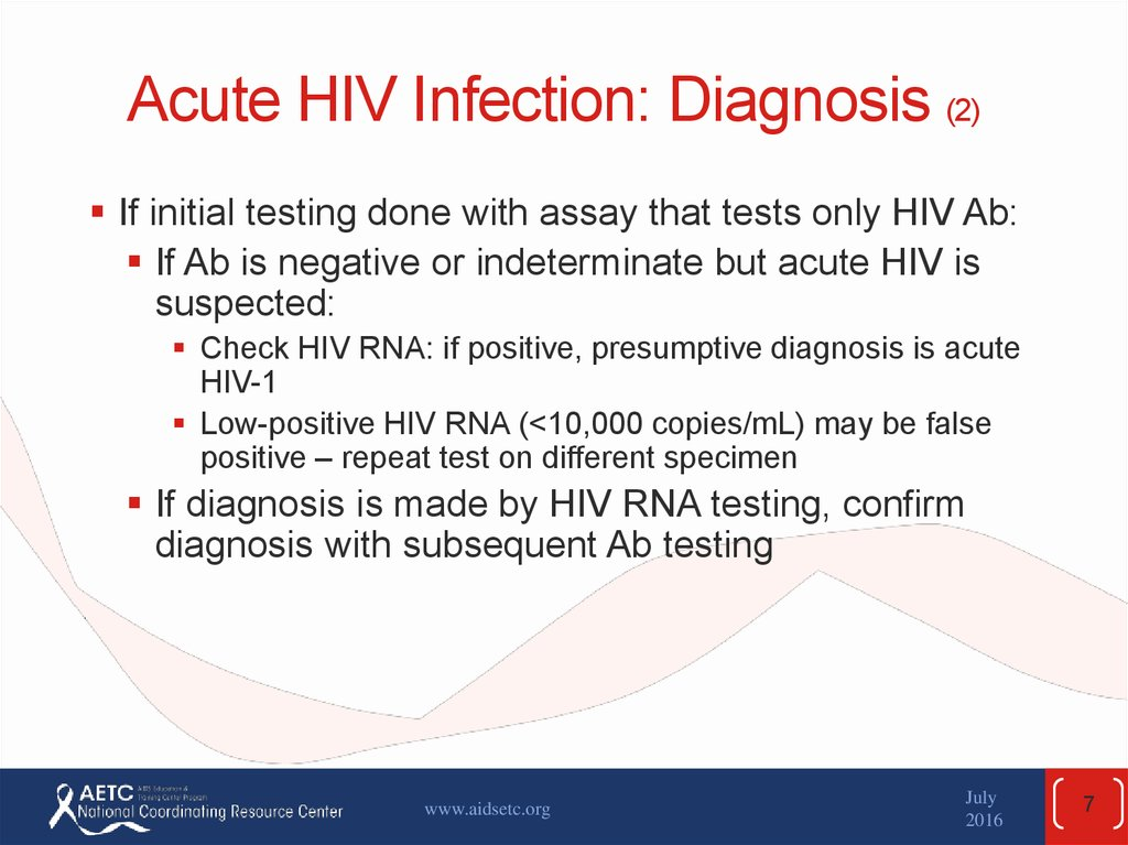 Acute HIV Infection: Diagnosis (2)