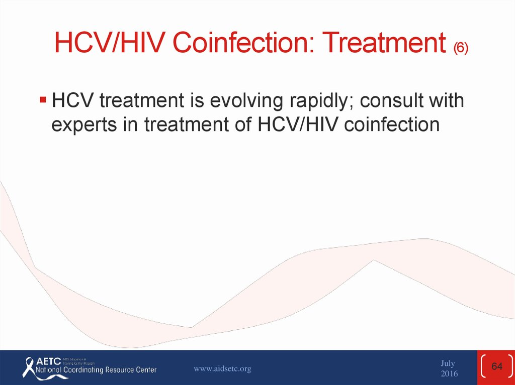 HCV/HIV Coinfection: Treatment (6)