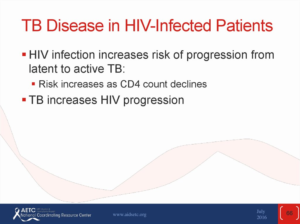 TB Disease in HIV-Infected Patients