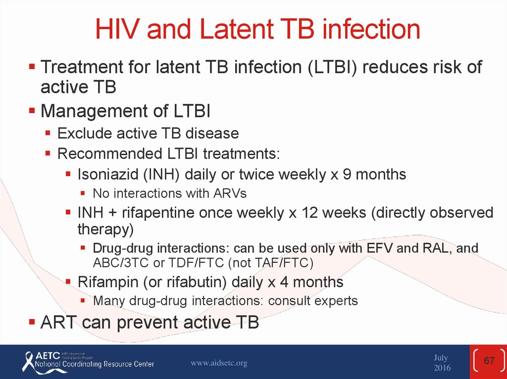 HIV and Latent TB infection