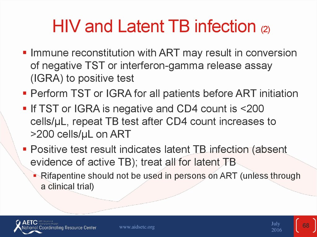 HIV and Latent TB infection (2)