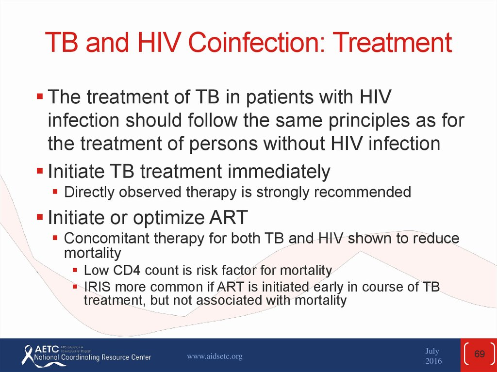 TB and HIV Coinfection: Treatment