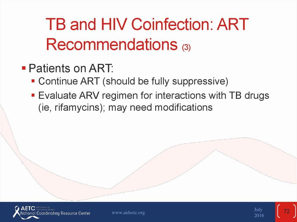 TB and HIV Coinfection: ART Recommendations (3)