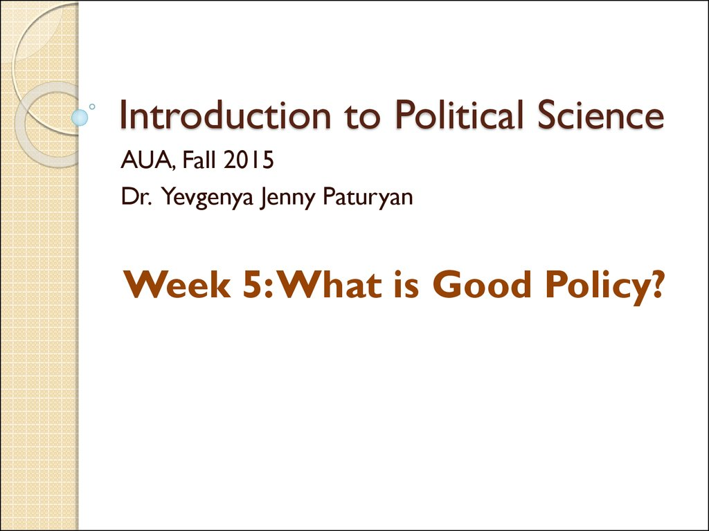 intro political science notes Puzzle videos the american political system is very complex and can be difficult to understand in this video, author ken kollman (university of michigan) introduces the text's themes of collective dilemmas and institutionsusing the example of the public's support of the 2008 stimulus package, kollman demonstrates how political science concepts can help us understand the complexities and.