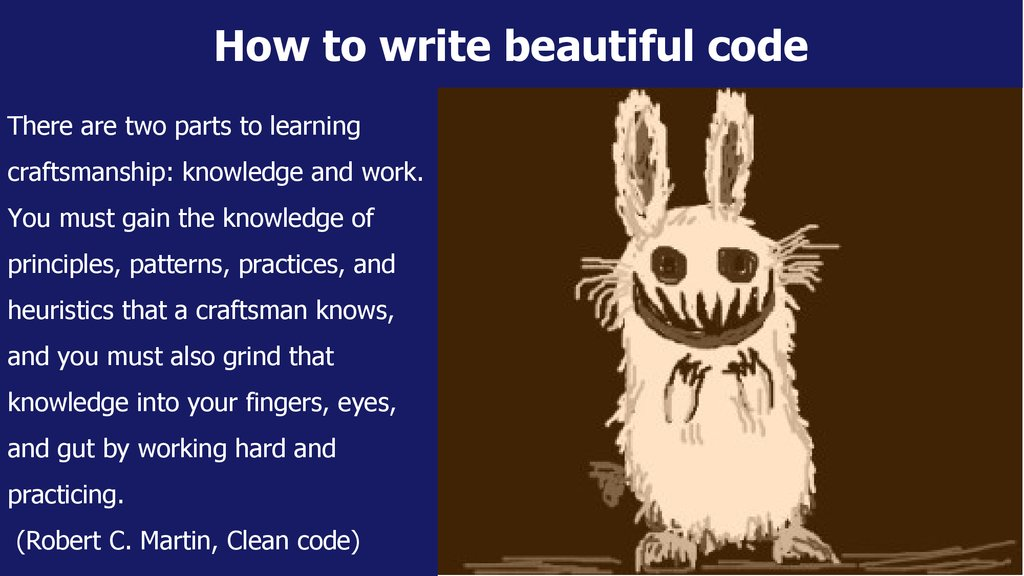 How to write beautiful code