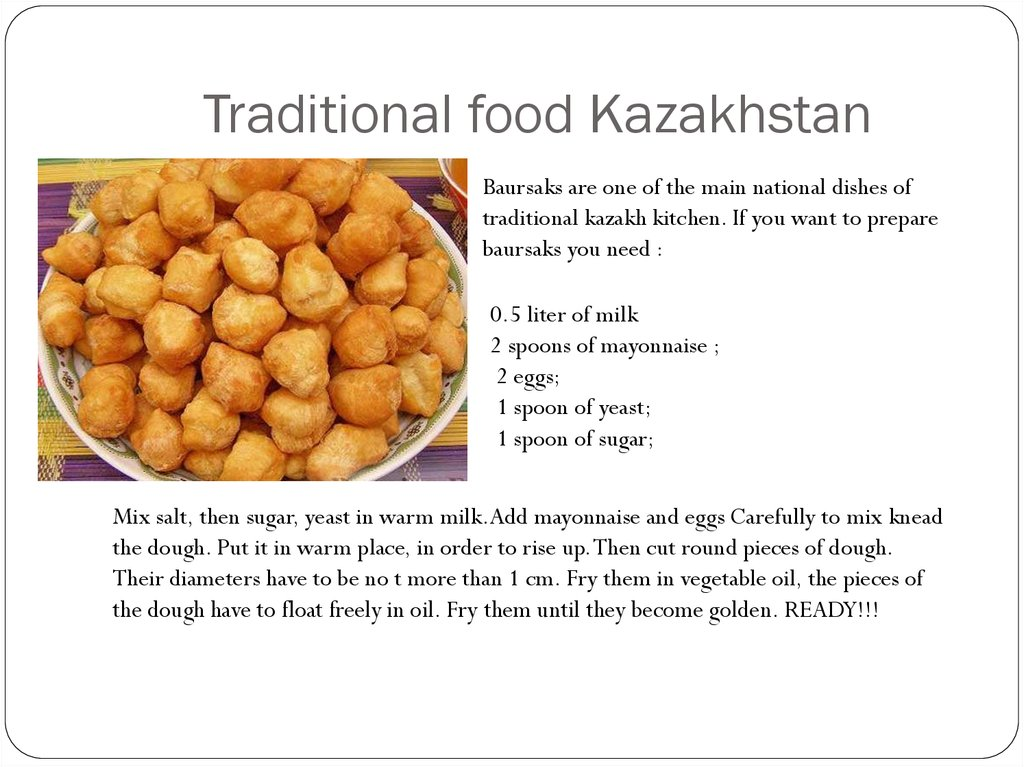 Traditional food Kazakhstan