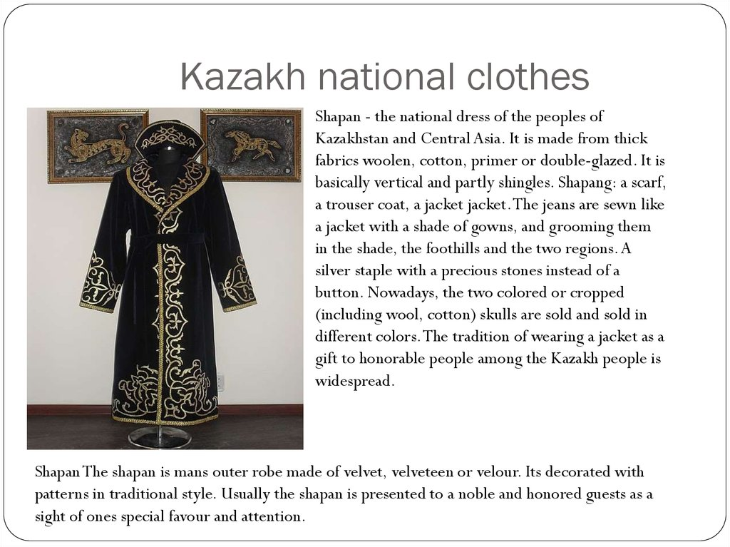 Kazakh national clothes