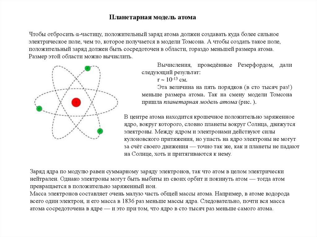 работы резерфорда девушка модель атома по резерфорду