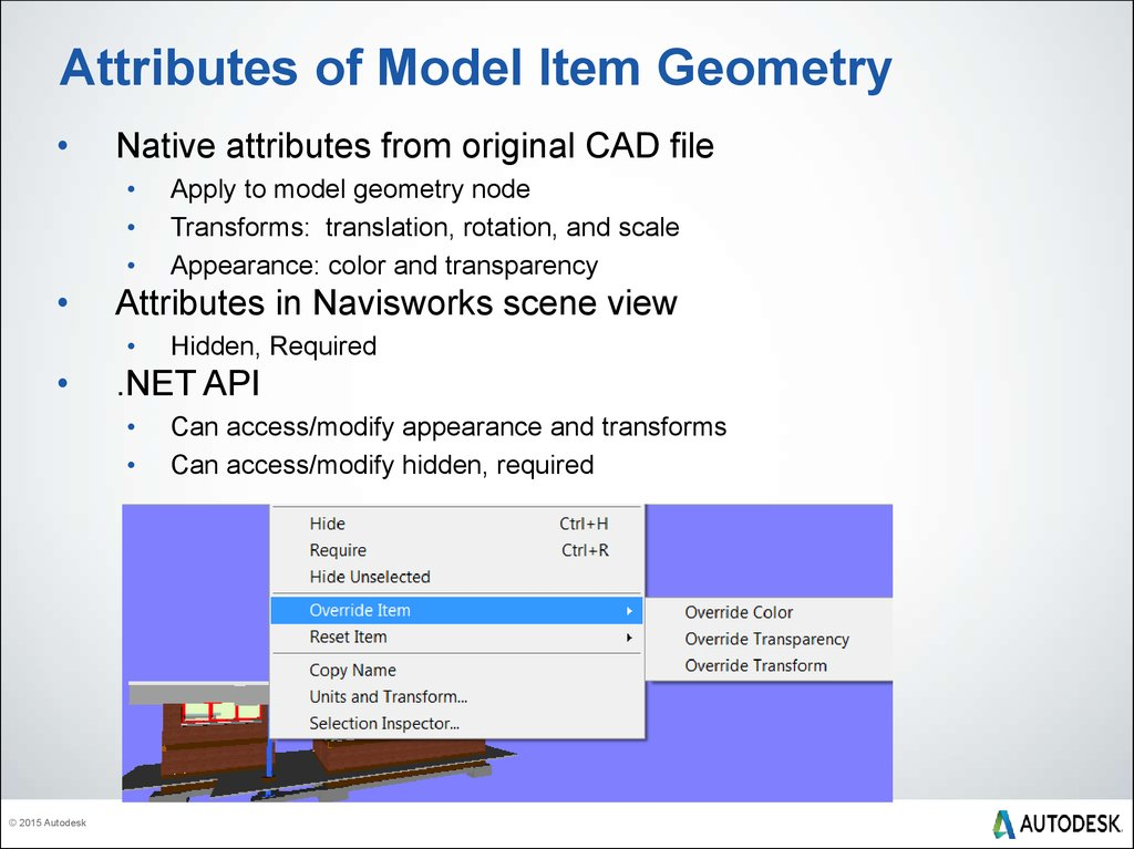Attributes of Model Item Geometry