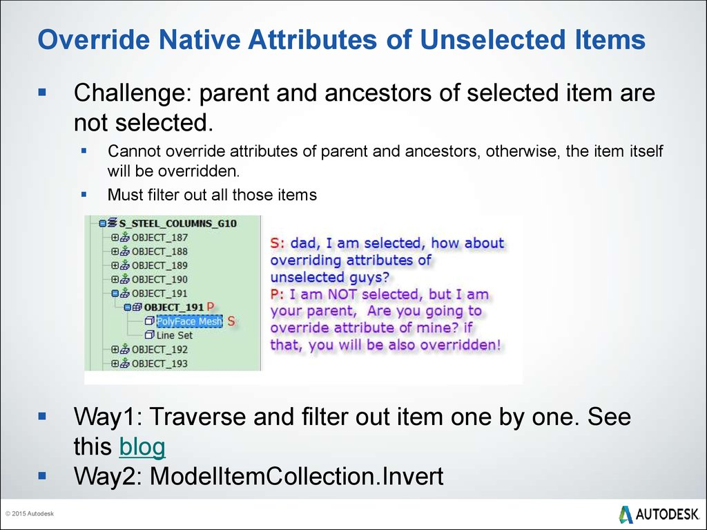 Override Native Attributes of Unselected Items