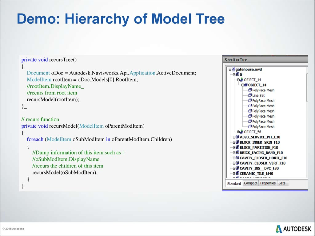 Demo: Hierarchy of Model Tree