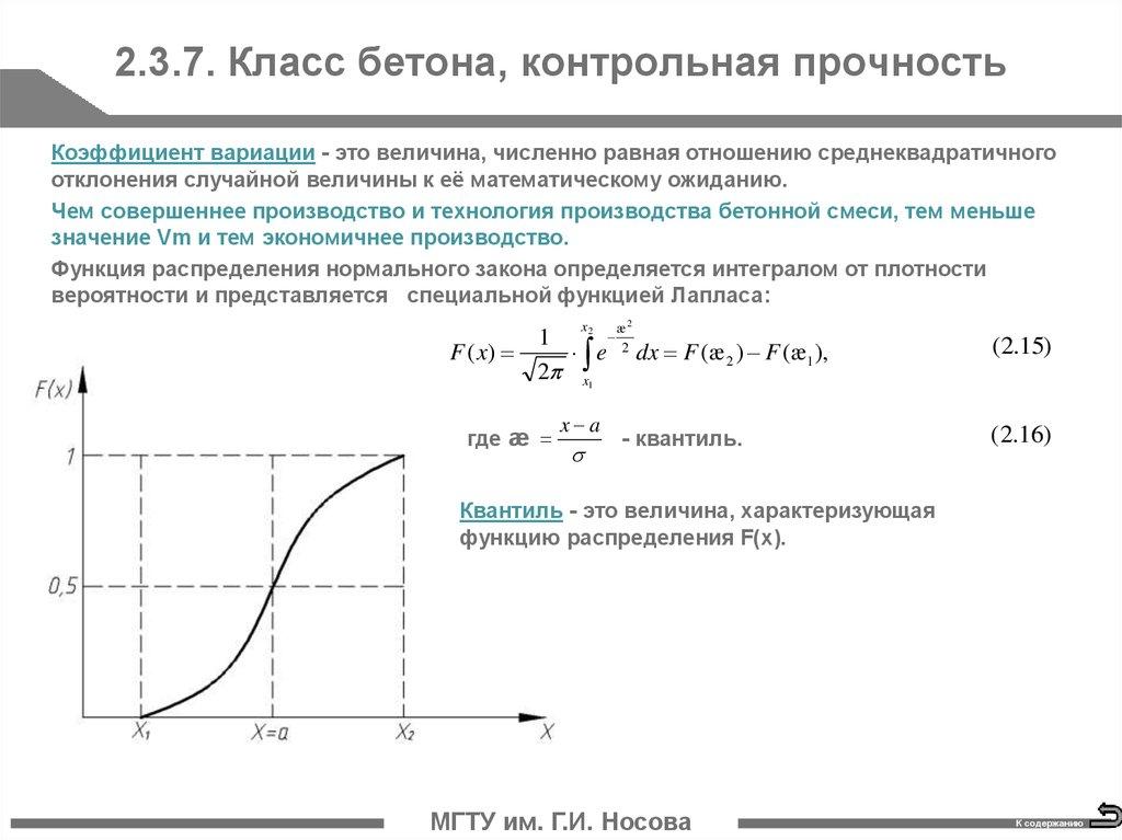 коэффициент вариации бетонной смеси