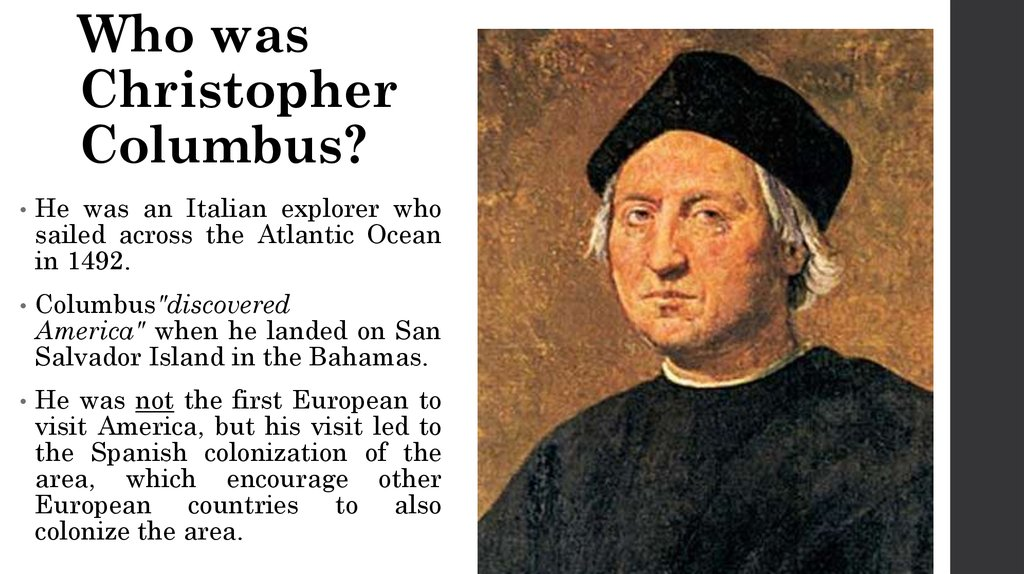 early days of christopher columbus Five myths about christopher columbus an early american archetype, columbus has long served as a model entrepreneur columbus day blog posts and articles have.